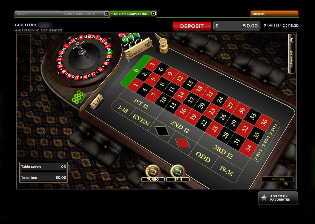 Play European Roulette Online at Casino.com UK