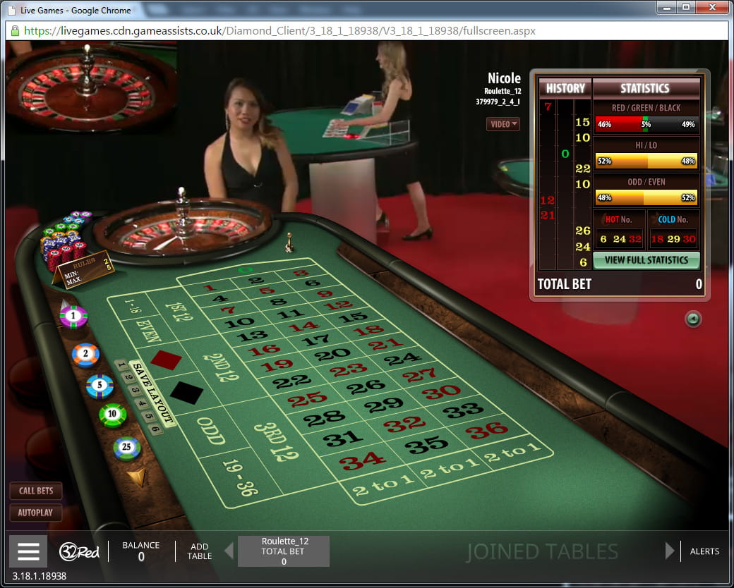 Play Live Dual Roulette at Casino.com Canada
