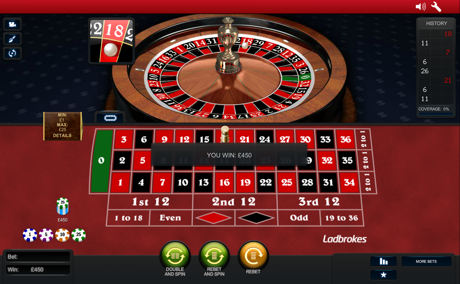 Play Premium European Roulette Online at Casino.com India
